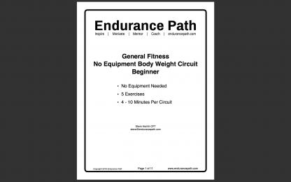 beginner no equipment body weight circuit