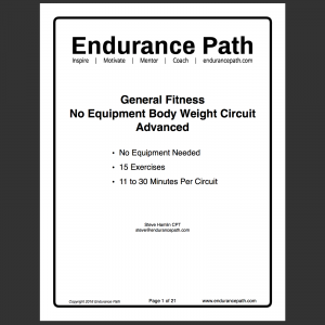 advanced no equipment body weight circuit